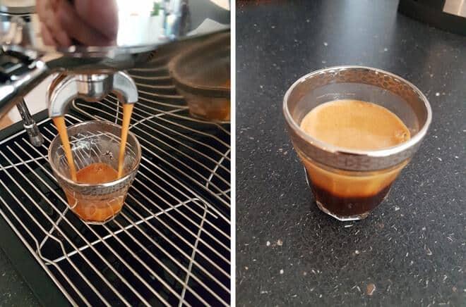 espresso fra maskine