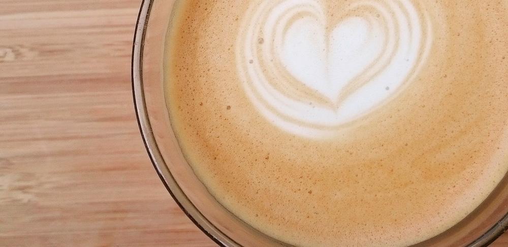 Hjerte i cappuccino